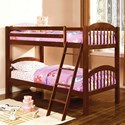Furniture of America Coney Island Twin over Twin Bunk Bed - Item Number: CM-BK524-CH-BED