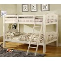 Furniture of America Coney Island Twin over Twin Bunk Bed - Item Number: CM-BK524-W-BED