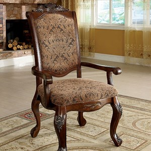 Furniture of America Cromwell Arm Chair (2/CTN)