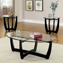 Furniture of America Dafni 3 Pc. Table Set (Coffee + 2 End) - Item Number: CM4848-3PK