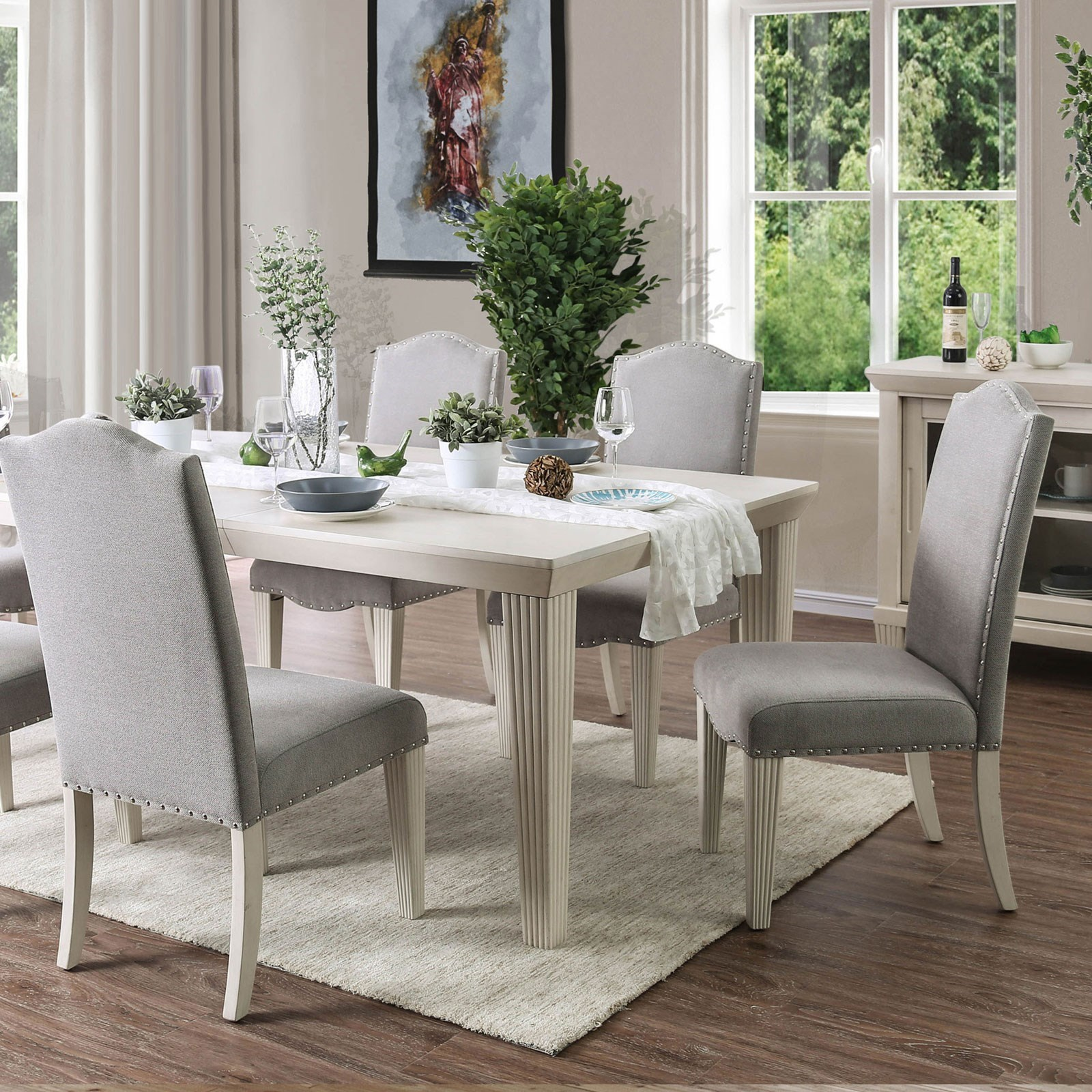 Daniella Transitional Dining Table With 18 Leaf By America At Del Sol Furniture