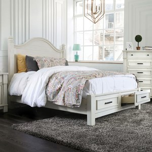Cal King Poster Storage Bed
