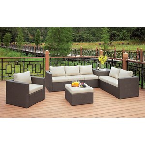 Patio Sectional w/ Ottoman