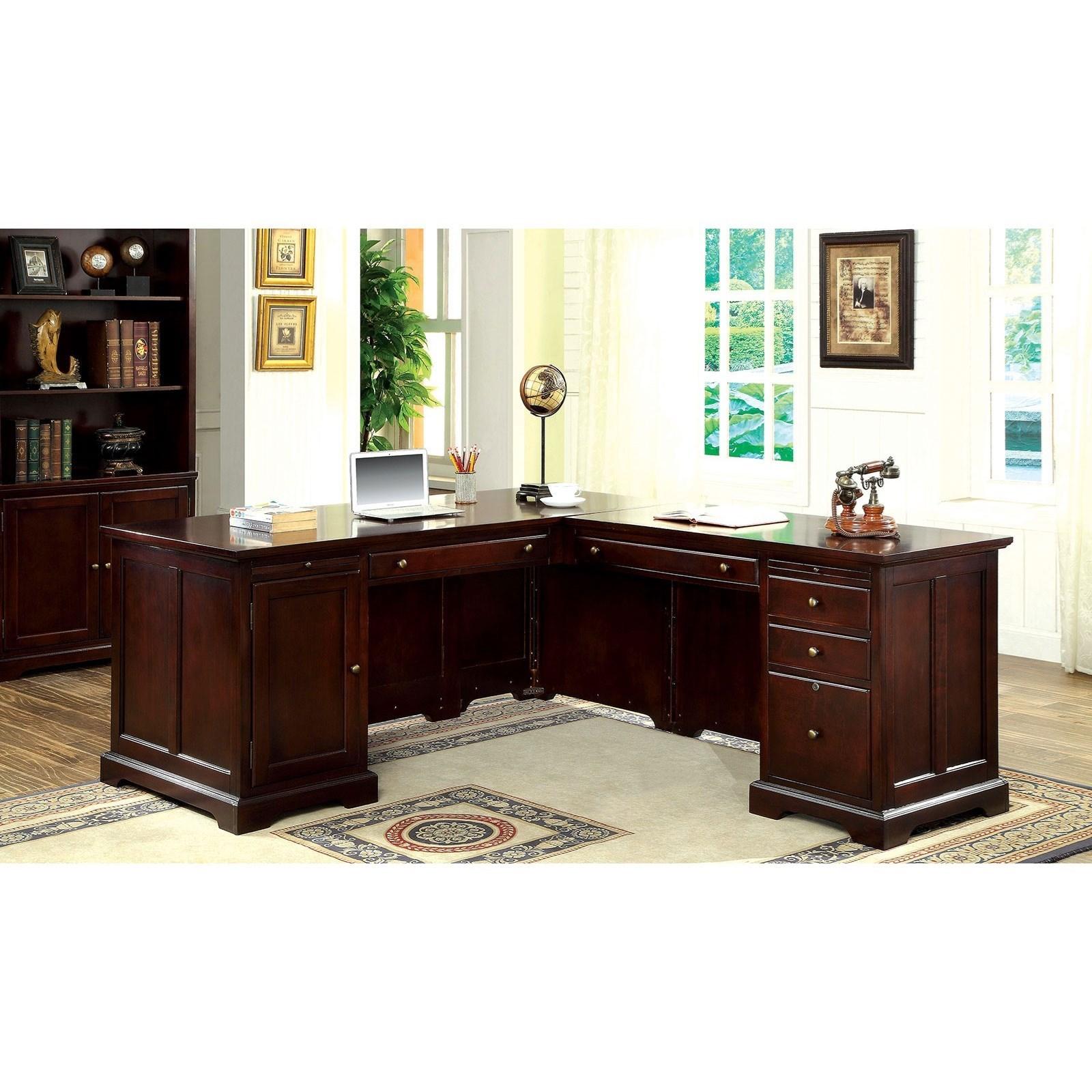 America Desmont CM-DK6207CR-SET Transitional Corner Office