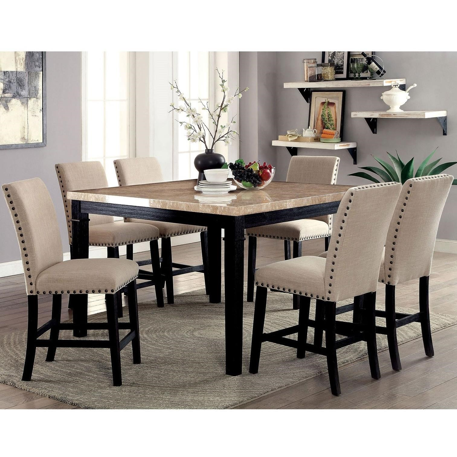 Furniture Of America Dodson Counter Height Table And Stool Set