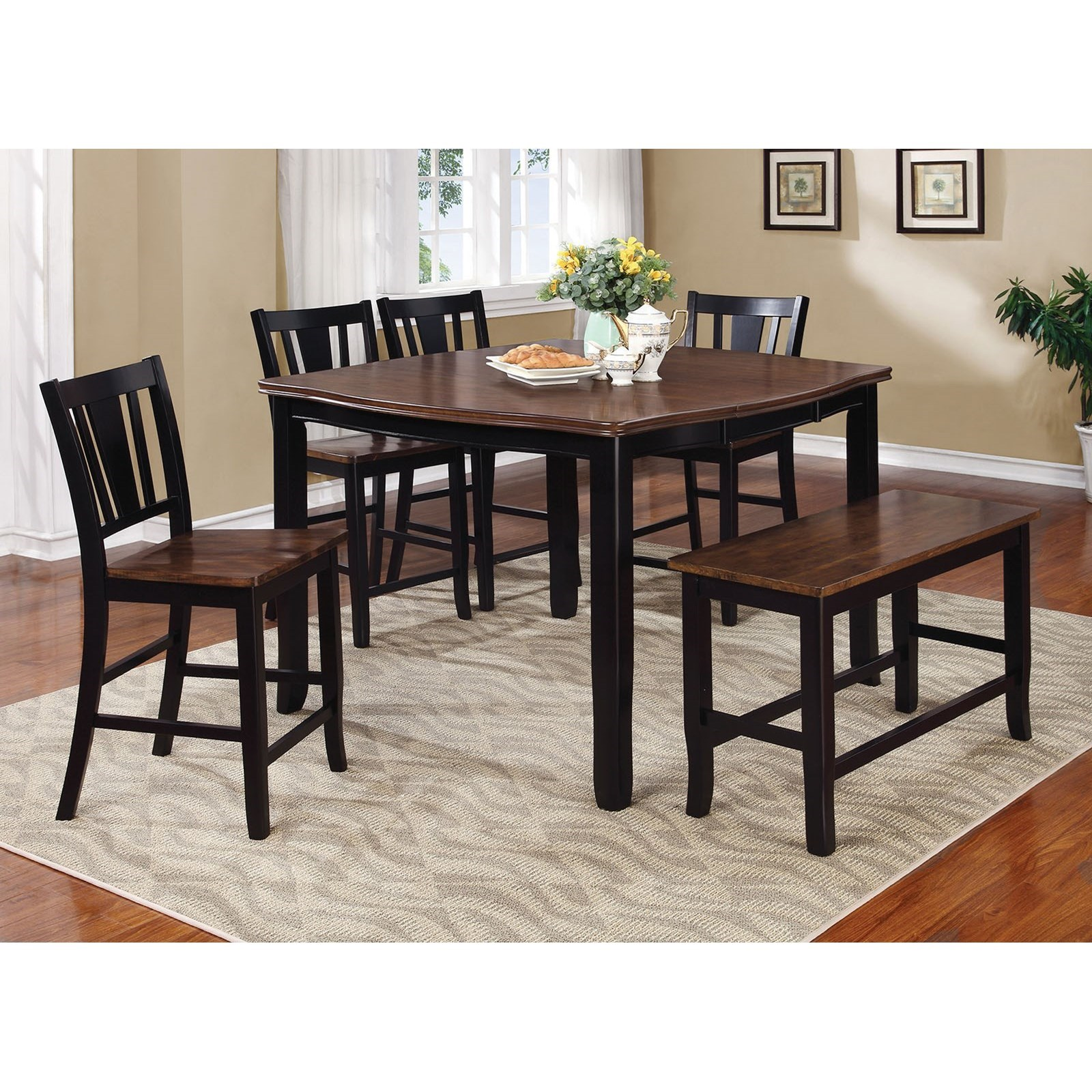 Furniture Of America Dover Ii Table 8 Side Chairs