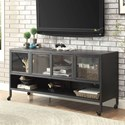 "Furniture of America Edvin 60"" Castered TV Stand - Item Number: CM5907-TV-60"