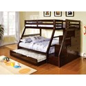 FUSA Ellington Twin/Full Bunk Bed - Item Number: CM-BK611EX-BED