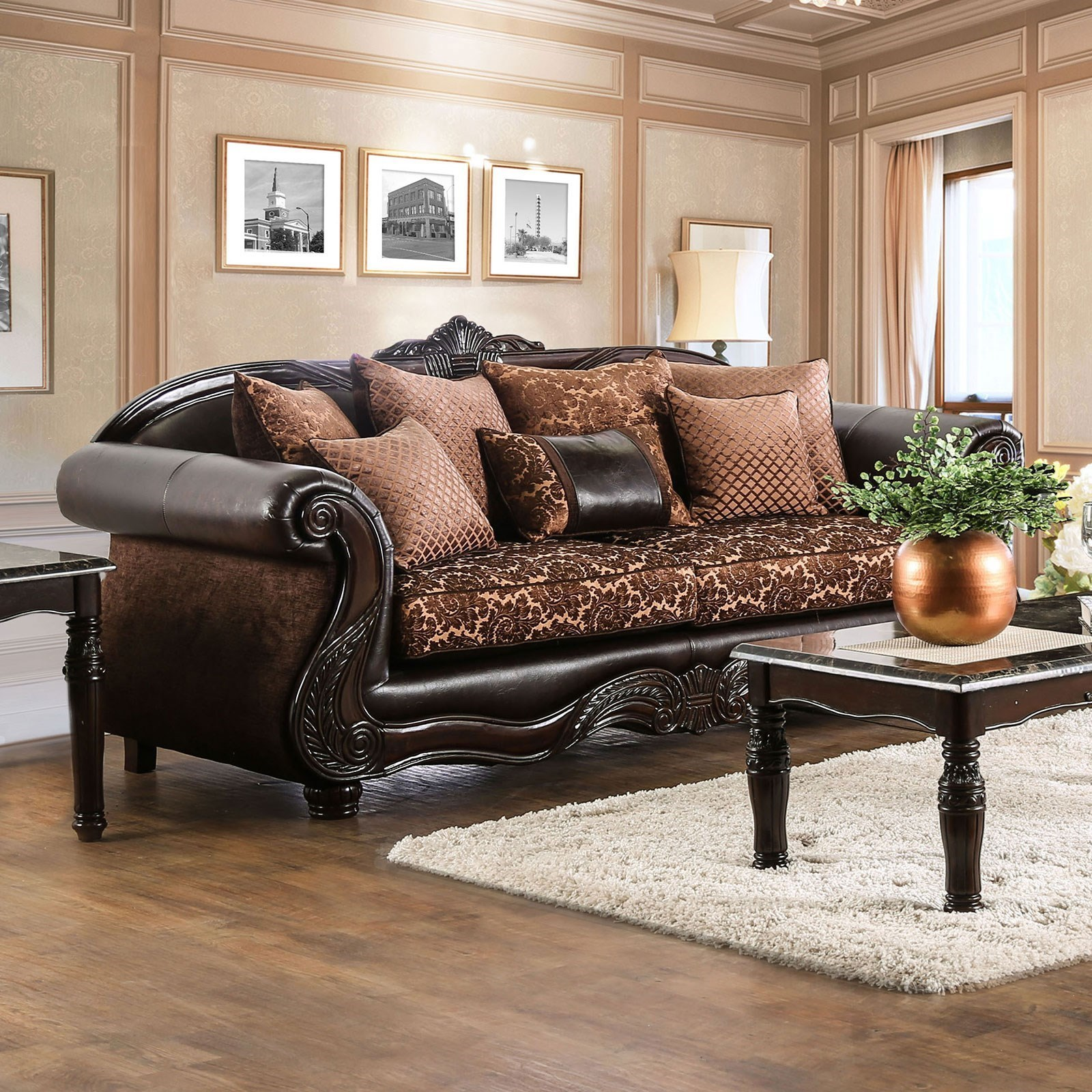 Home Furniture For Less: Furniture Of America Elpis Traditional Fabric And Faux