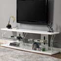 "Furniture of America Ernst 60"" TV Stand - Item Number: CM5901WH-TV-60"