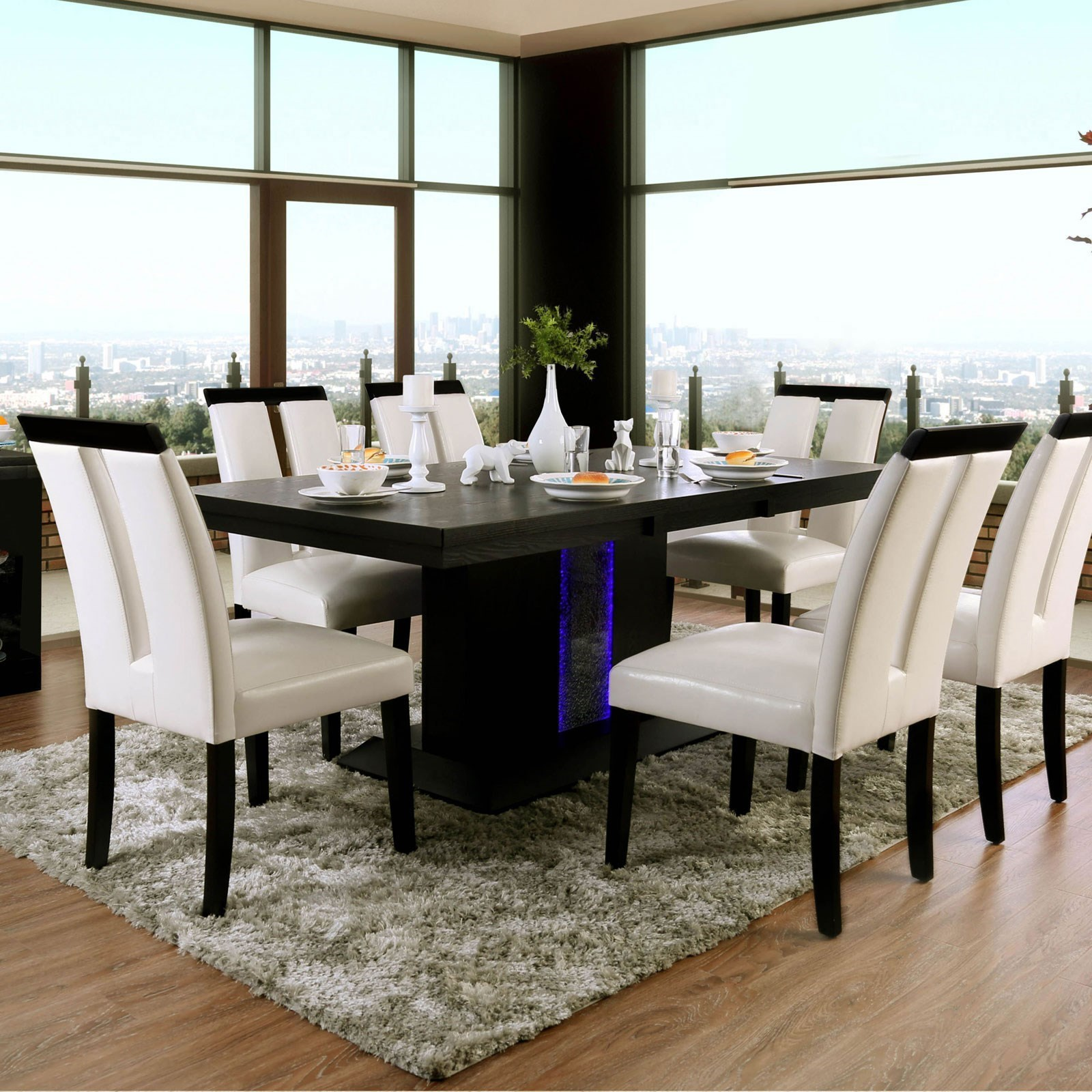 Furniture Of America Evangeline Contemporary Dining Table With LED