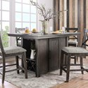 Furniture of America Faulkton Counter Height Table - Item Number: CM3391PT-TABLE