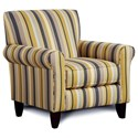 Furniture of America Fitzgerald Chair with Stripes - Item Number: SM8490-CH-EG