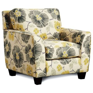 Furniture of America Fitzgerald Chair with Floral Pattern