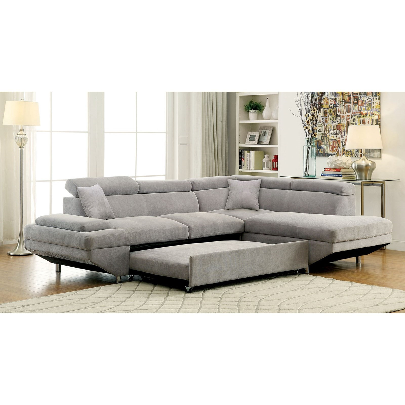 Furniture Of America Foreman Contemporary Sectional With