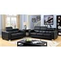 Furniture of America Garret Sofa + Love Seat - Item Number: CM6310-2PC