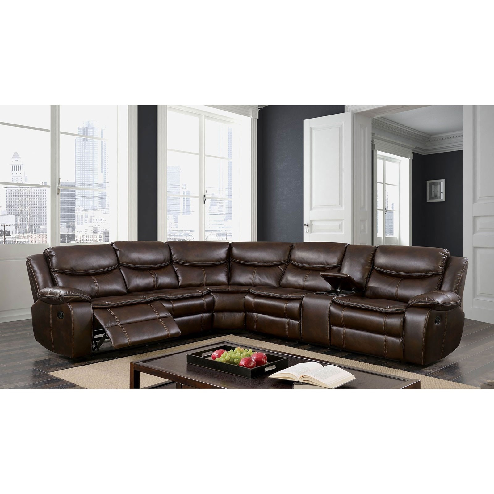 Reclining Sectional w/ Console