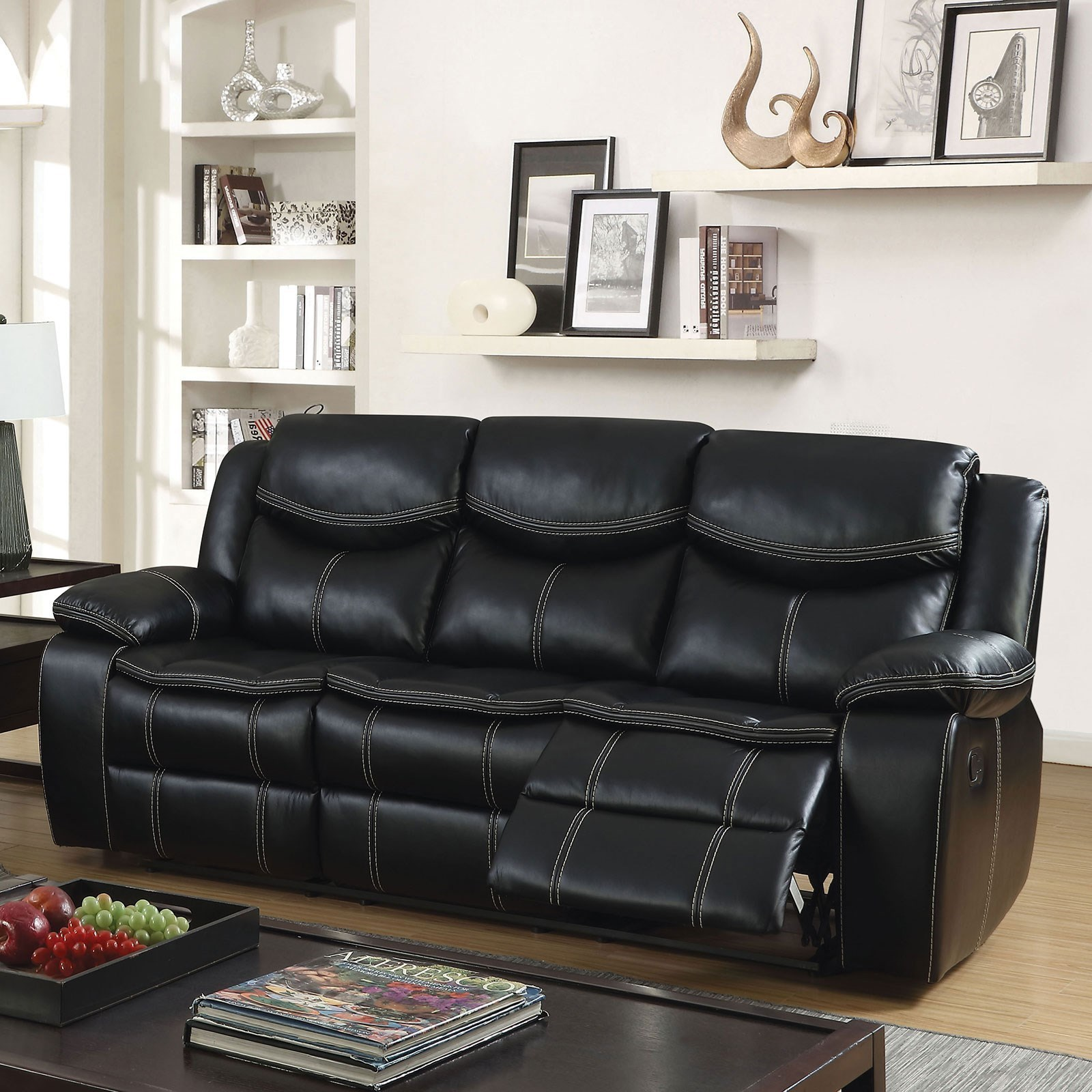 Home Furniture For Less: Furniture Of America Gatria Casual Faux Leather Reclining
