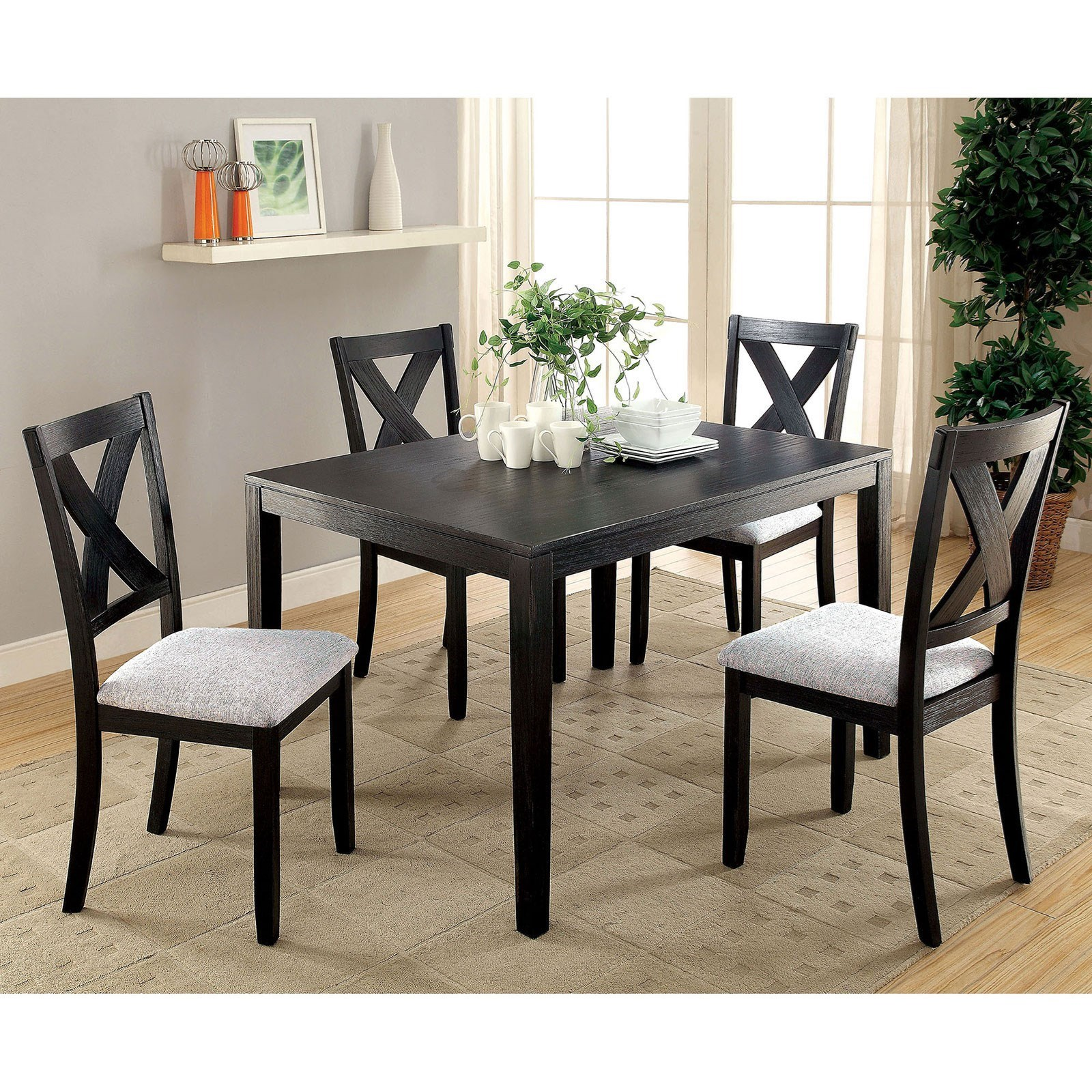 Glenham 5 Piece Dining Table Set by Furniture of America at Rooms for Less