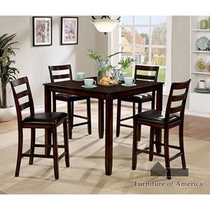 Furniture Of America Gloria II 5 Pc. Counter Ht. Table Set