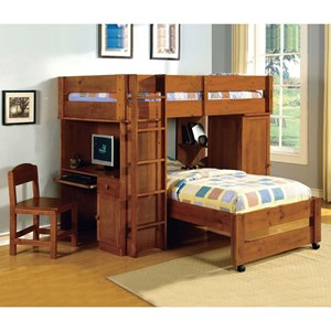 All-In-One Twin-pver-Twin Loft Bed