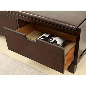 Furniture of America Hebron Storage Bench w/ 2 Drawers
