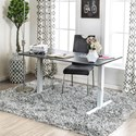 Furniture of America Hedvig Adjustable Ht. Desk - Large - Item Number: CM-DK6454L-GY