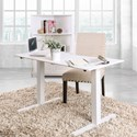 Furniture of America Hedvig Adjustable Ht. Desk - Large - Item Number: CM-DK6454L-WH