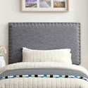 Furniture of America Herstal Twin Headboard - Item Number: CM7051GY-HB-T