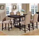 Furniture of America Hurdsfield Table and 6 Chairs - Item Number: CM3133PT-7PC