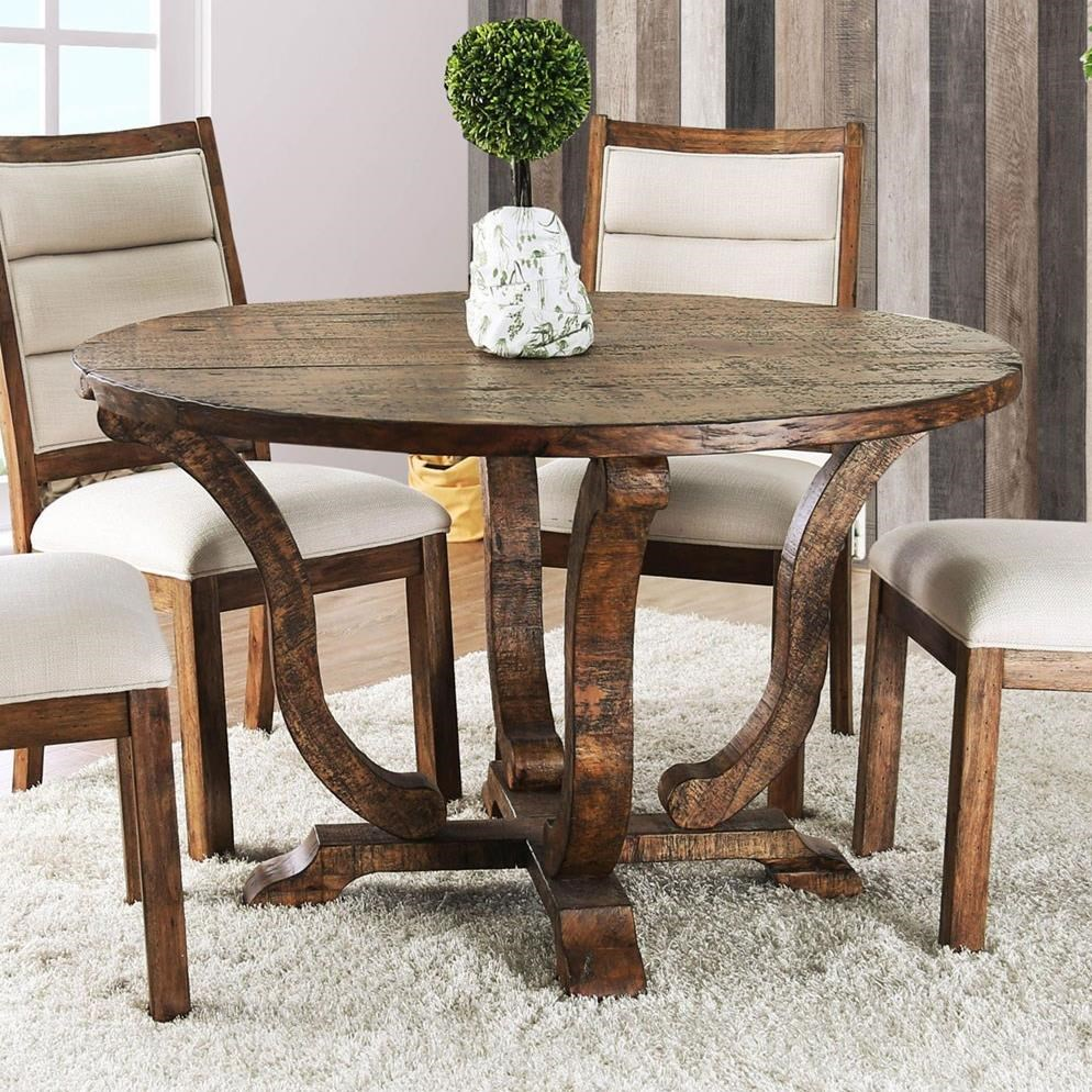 Isabelle Rustic Round Dining Table