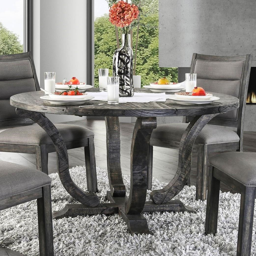 Isabelle Rustic Round Dining Table by Furniture of America at Rooms for Less