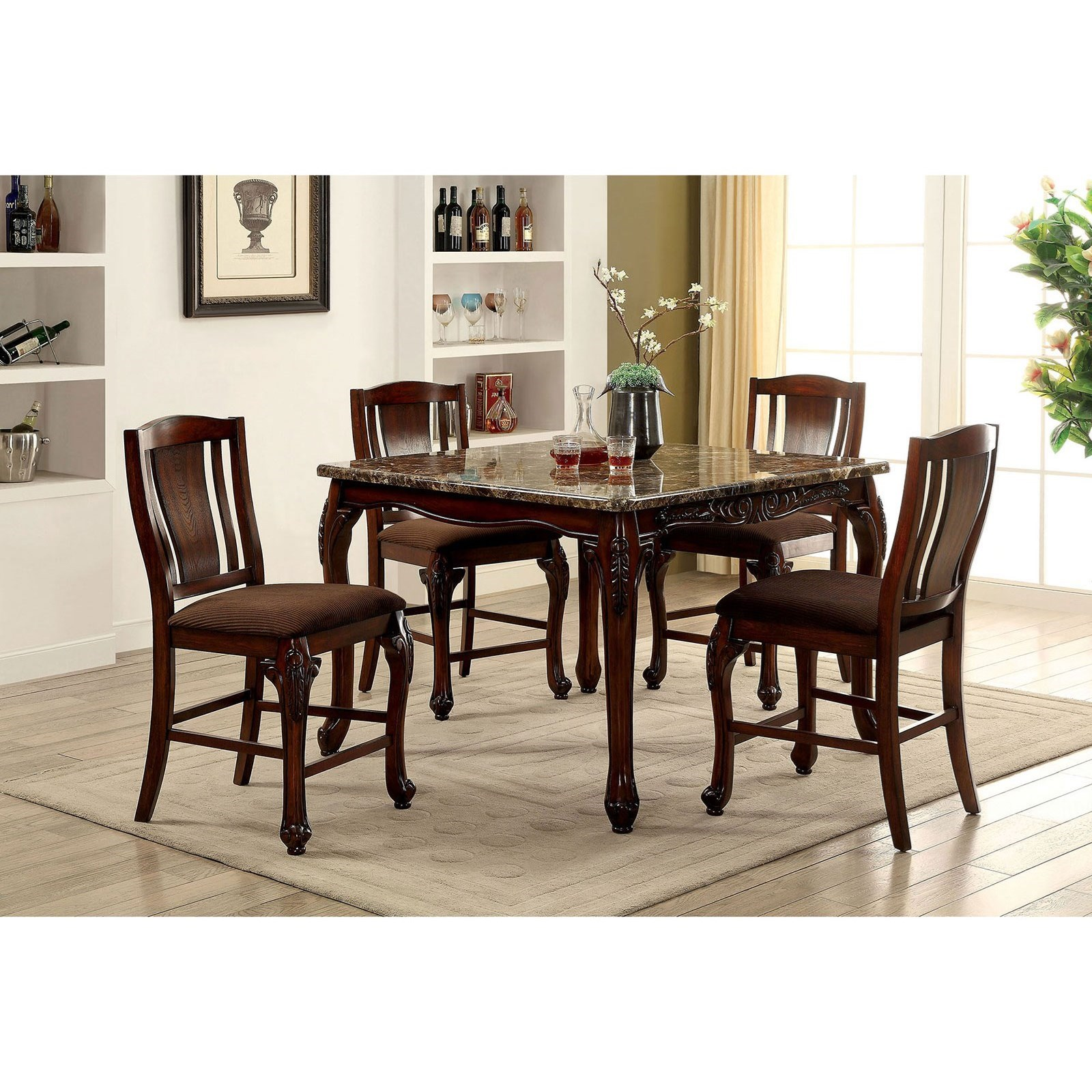 Johannesburg Table + 9 Counter Ht. Chairs