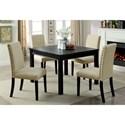 Furniture of America Kristie 5 Piece Dining Table Set - Item Number: CM3314T-5PK