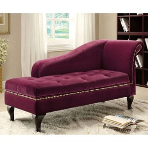 Storage Chaise Leatherette