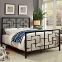 Furniture of America Lala Cal.King Bed - Item Number: CM7425BR-CK