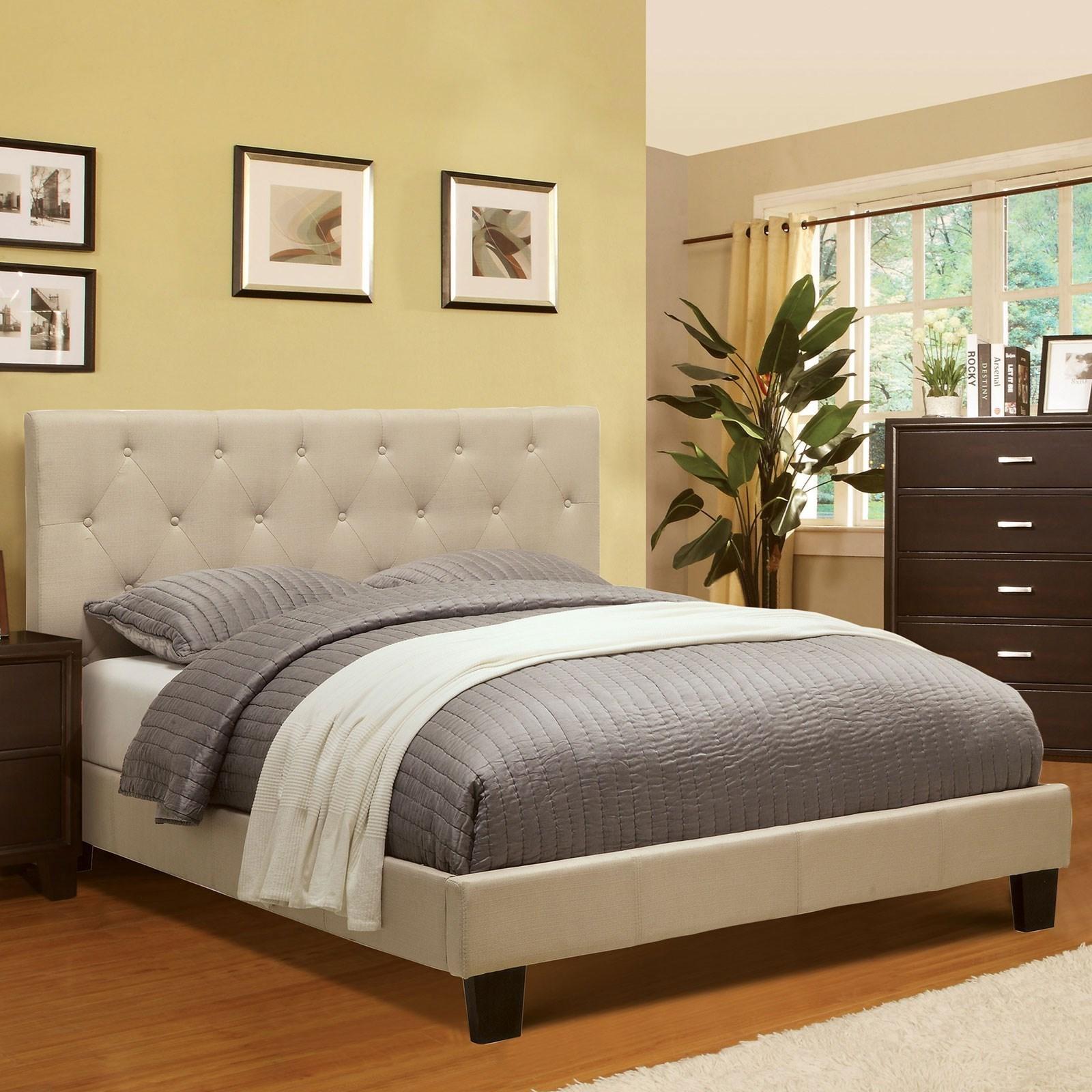 Full Upholstered Platform Bed