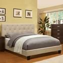 Furniture of America Leeroy Full Upholstered Platform Bed - Item Number: CM7200IV-F-BED