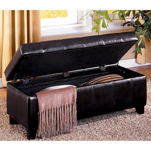 Furniture of America Luton Storage Ottoman