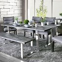 Furniture of America Mandy Dining Table - Item Number: CM3451GY-T-TABLE