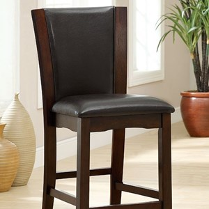 Furniture of America Manhattan III Counter Ht. Chair (2/Ctn)