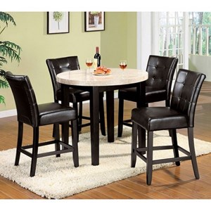 Counter Height Table and 4 Side Chairs
