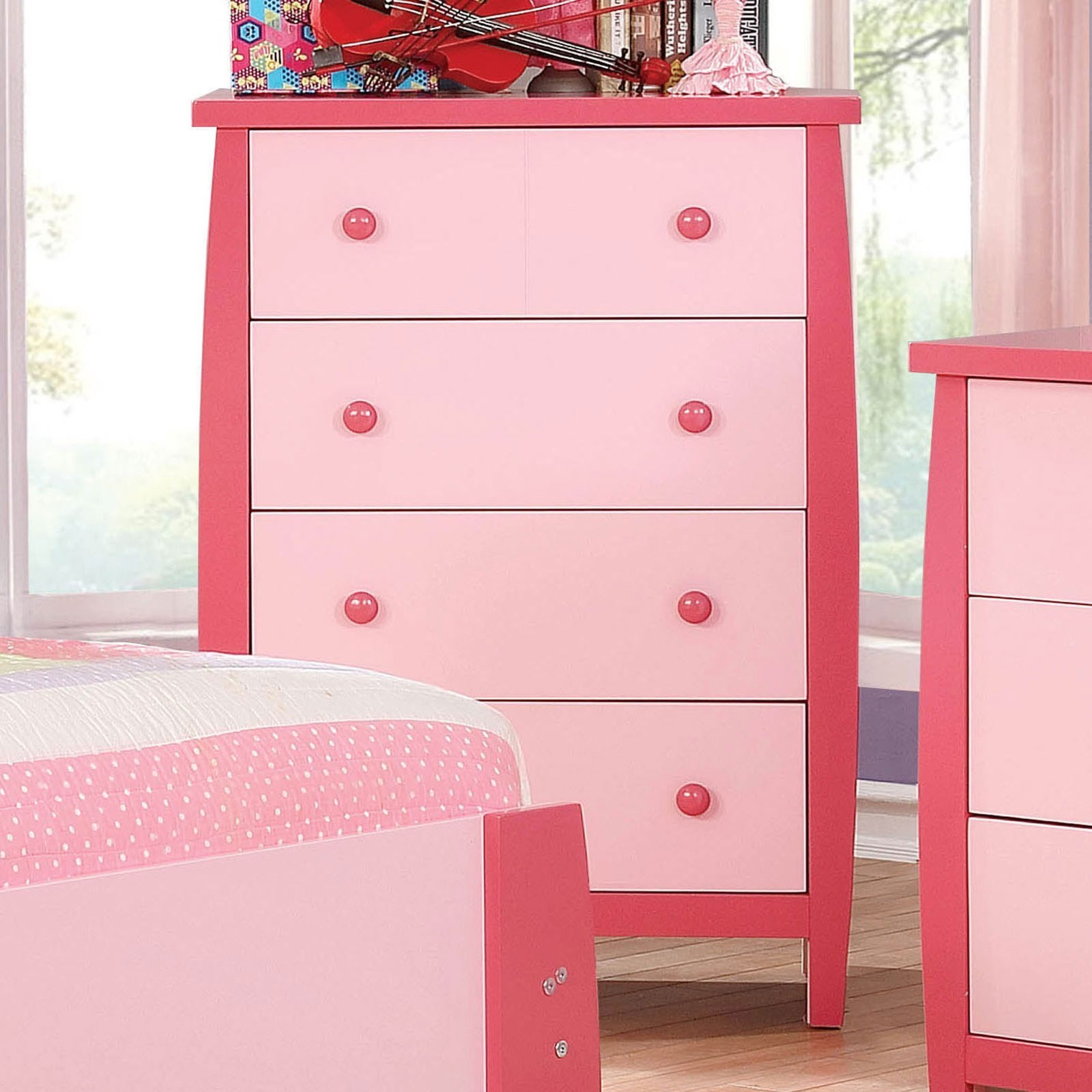 Marlee Contemporary Youth Bedroom 4 Drawer Chest by Furniture of America at  Furniture Superstore - NM