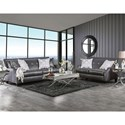 Furniture of America Massimo   Sofa and Loveseat - Item Number: SM2252-2PC