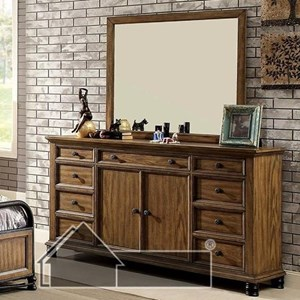 Furniture of America McVille Dresser and Mirror Set