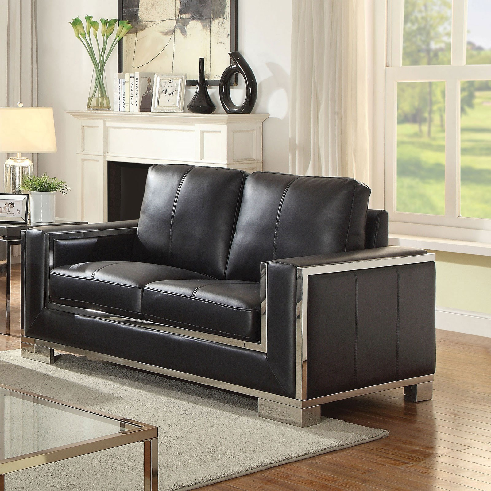 Furniture Of America Monika Contemporary Love Seat With