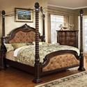 Furniture of America Monte Vista I King Canopy Bed - Item Number: CM7296DA-C-EK-BED