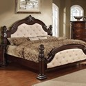 Furniture of America Monte Vista I King Poster Bed  - Item Number: CM7296LA-EK-BED