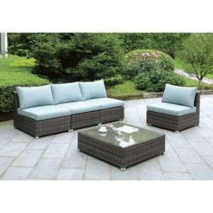 Furniture of America Morgana Sofa + Chair + Ottoman