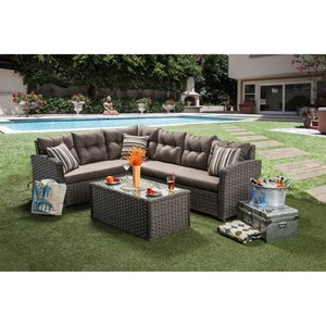 Furniture of America Moura Patio Sectional